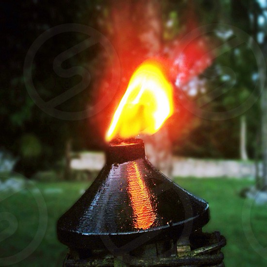 Fire light. photo