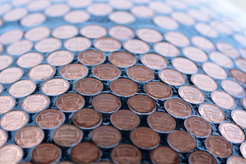 bronze round coin photo