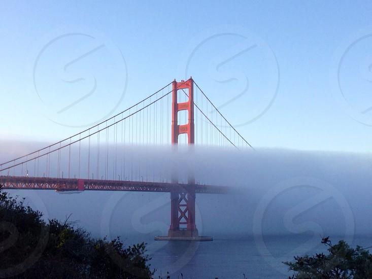 Golden Gate bridge with Karl the fog. photo