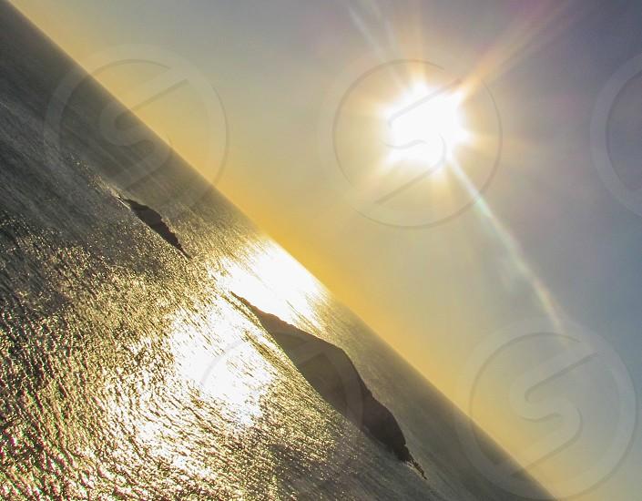 Sun Shining  sunset time. photo
