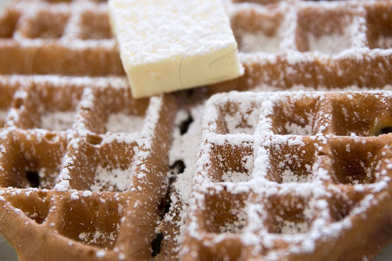 Belgian waffles photo
