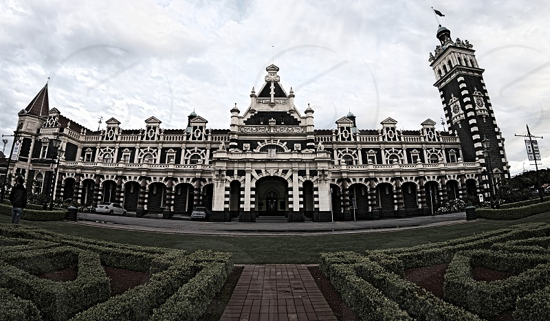 landscape photography of brown concrete palace photo
