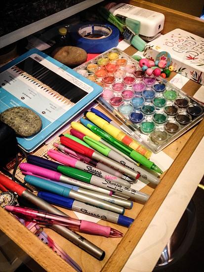 Crafting junk drawer photo