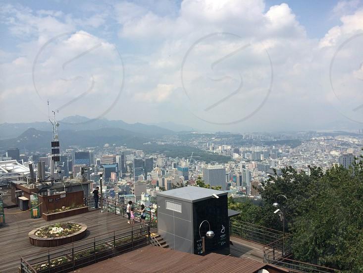 Seoul city mountain view photo