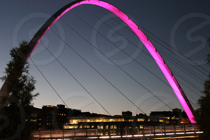 Newcastle Millennium Bridge UK photo