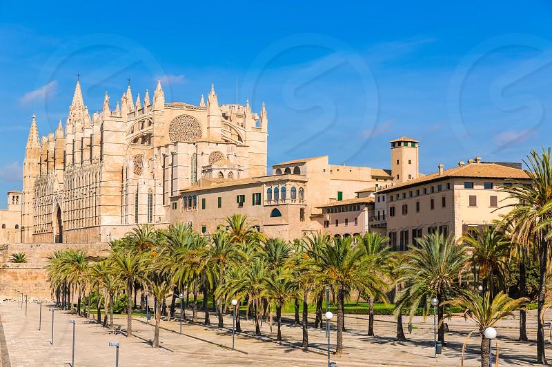 Majorca Palma Cathedral Seu Seo of Mallorca at Balearic Islands Spain photo