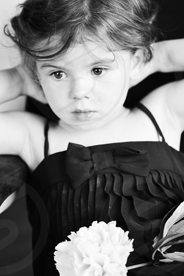 child's black pleated shirt photo