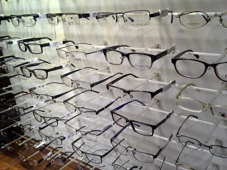 glasses lens glasses display  photo