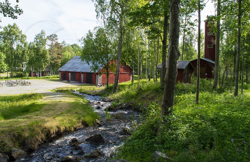 Langvindsbruk a small 1800s town on the east coast north of Stockholm Sweden photo