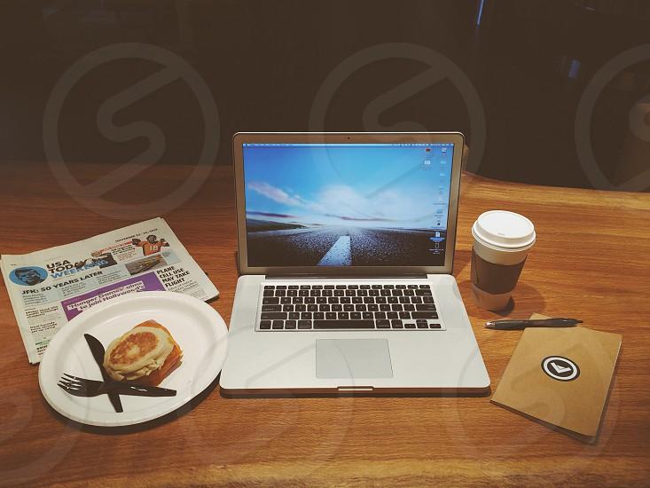 black silver laptop photo