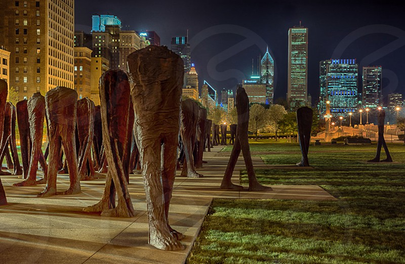 Grant Park Art At Night photo