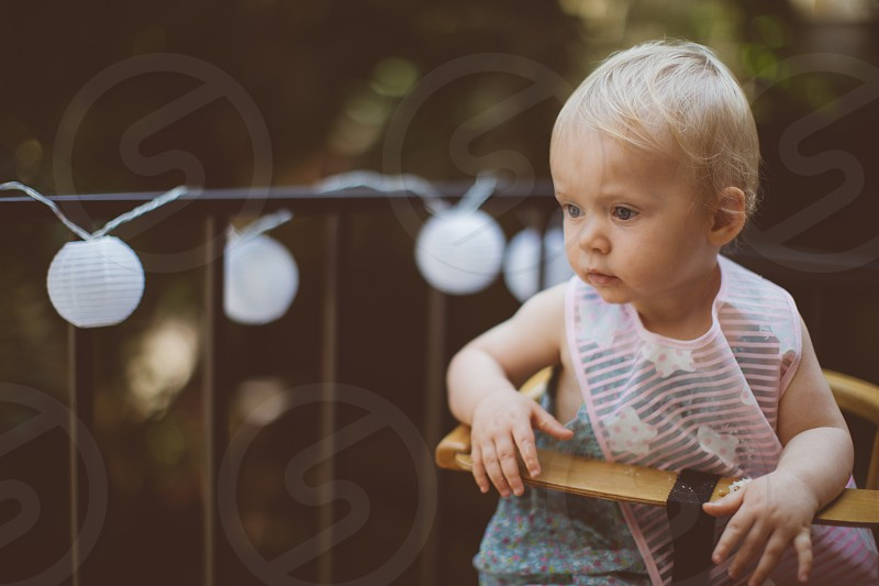 baby in high chair photo