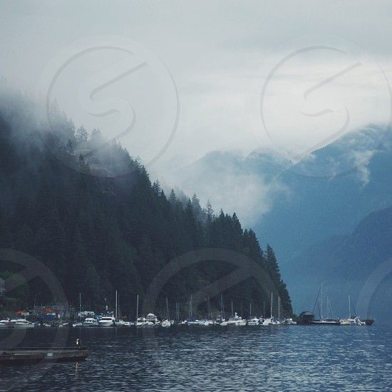 Deep cove foggy day.  Vancouver BC photo