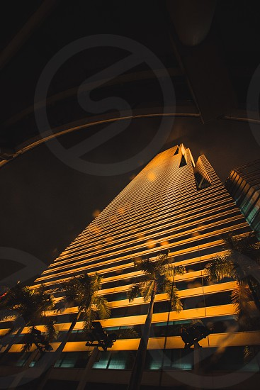 Miami architecture abstract skyscraper skyline night photography photo