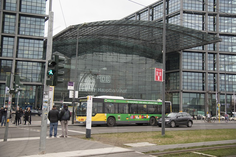 berlin hauptbahnhof train station photo