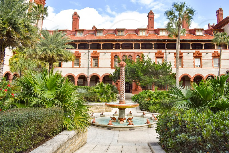 St. Augustine Florida. January 26  2019. Inside view of Henry Flager College. Old Ponce de Leon Hotel. photo