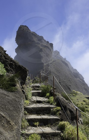 the high mountains at madeira island called pico arieiro the top is 1818 meters above sea level photo