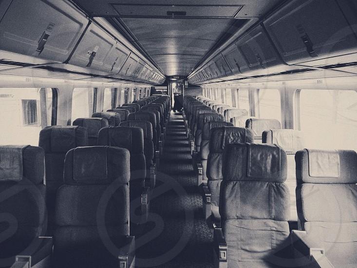 An empty train car. photo