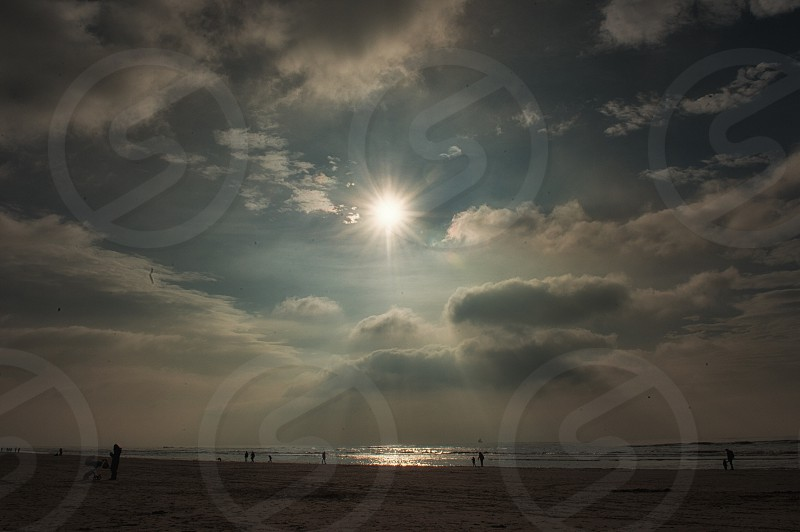 sun ligt sundays beach people  photo