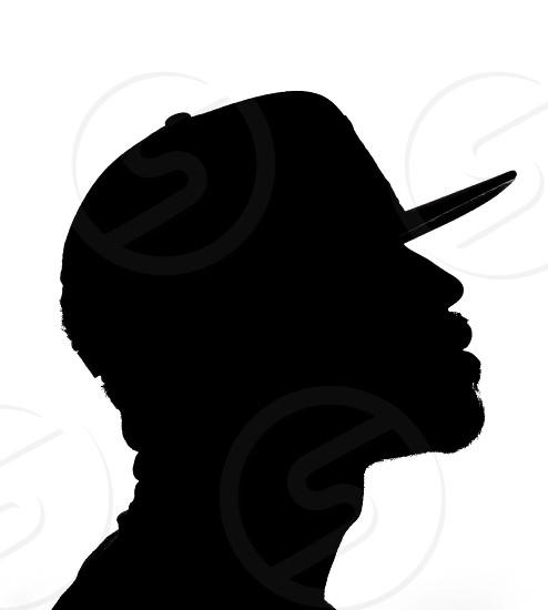Self portrait silhouette black and white monochrome  photo