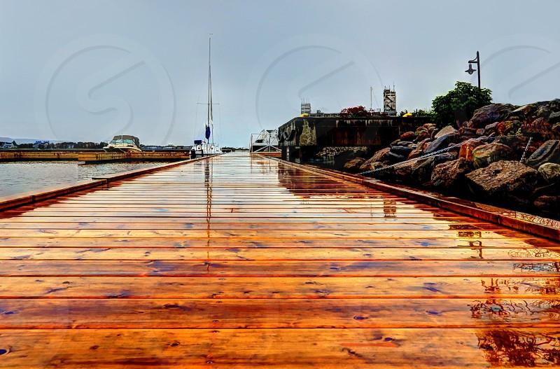 Rainy Day at the Marina photo