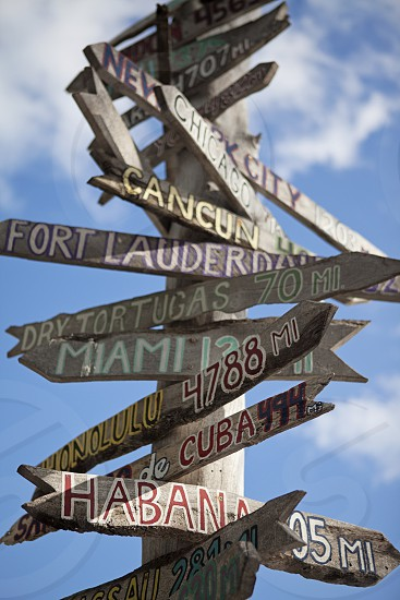Southernmost Sign in Key West Florida. photo