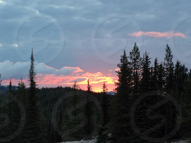 Montana sunset photo