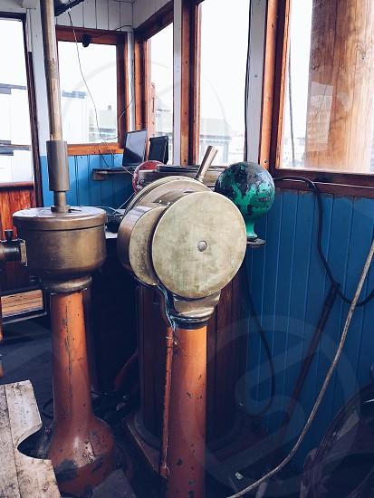 Transportation boat  ship steam ship bridge speed water transport  water transportation  old fashioned vintage  photo