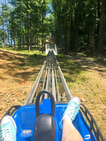 A coaster in the mountains. photo