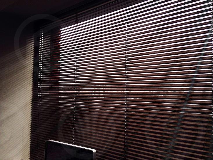 black window blinds photo