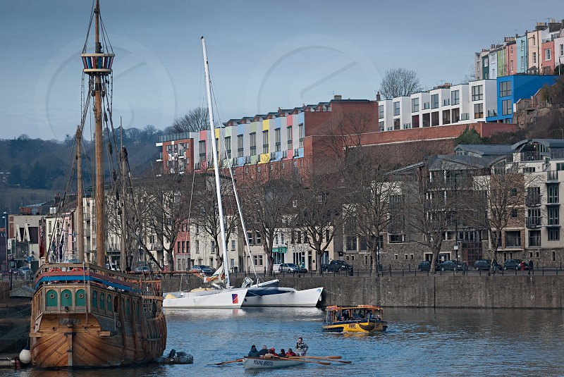 Beautiful view the river in City of Bristol photo