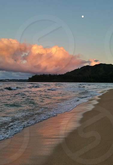 Sunset on Kauai Hawaii photo