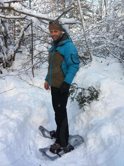 Snowshoo in Québec winter photo