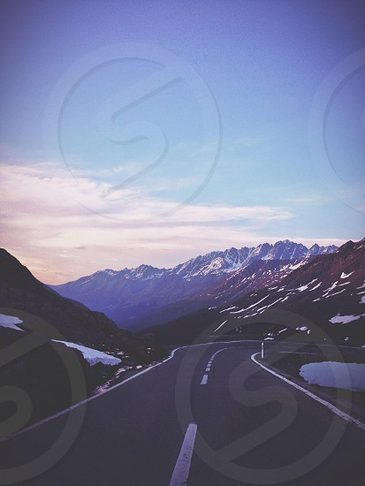 mountain and road view photo