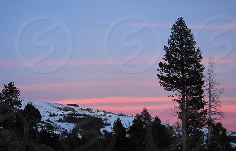 Winter sunset Lake Tahoe photo