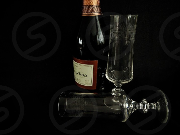 Cheers champagnedrinkalcoholglassesbottleluxery photo