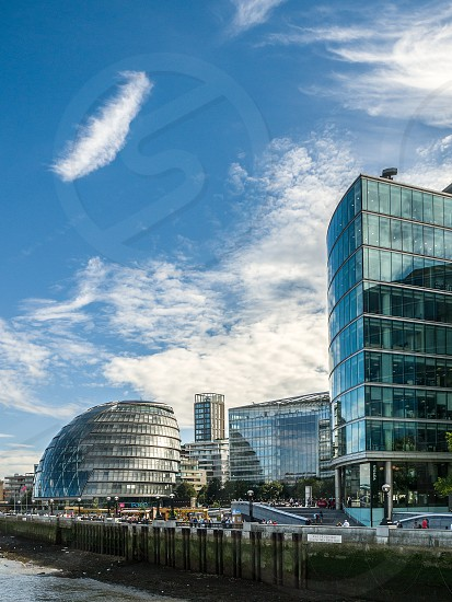 City Hall and Other Modern Buildings along the River Thames photo