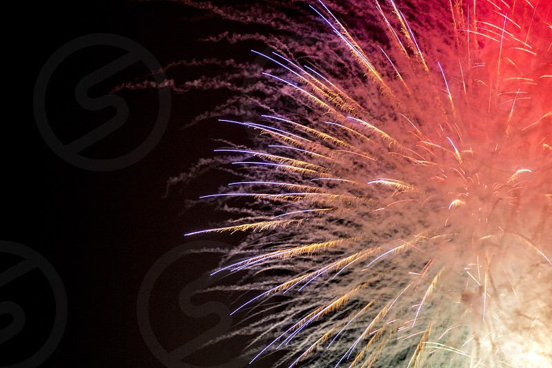 Beautiful color shades of fireworks photo