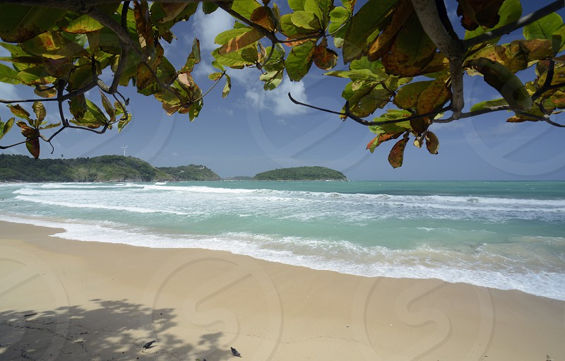 the Hat Kata Yai Beach near Rawai in the south on the Phuket Island in the south of Thailand in Southeastasia. photo