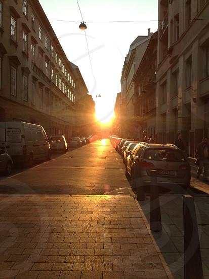 Hungary Budapest sunset   photo