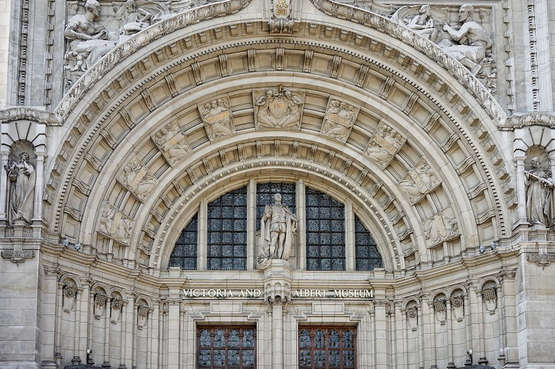 Exterior view of the Victoria and Albert Museum in London photo