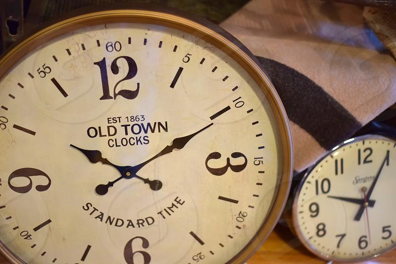 Clocks telling time photo