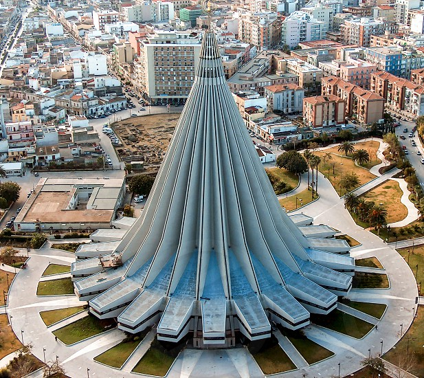 Syracuse Sicily aerial view of Sanctuary of the Mary of the Tears photo