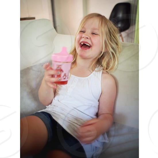 Happy laughing happiness laughter daughter girl kid child  photo