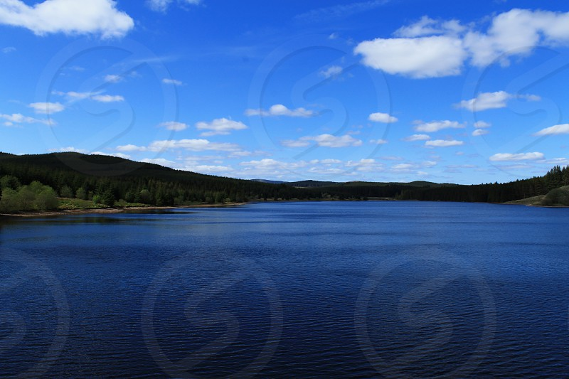 The Black Esk reservoir in South West Scotland looking North photo