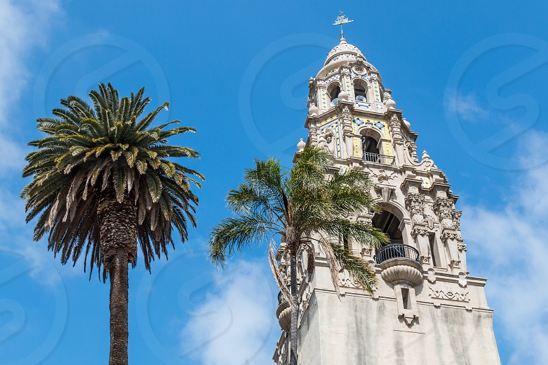 The California Tower at the San Diego Museum of Man in San Diego California.  photo