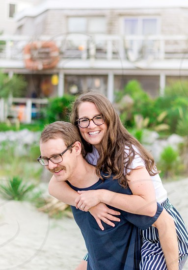 Young couple engagement session lifestyle - Myrtle Beach South Carolina photo