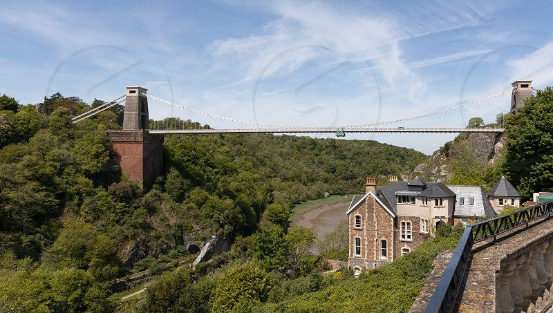 BRISTOL UK - May 13 : View of the Clifton Suspension Bridge in Bristol on May 13 2019 photo