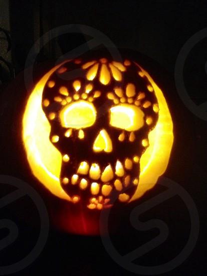 Sugar skull Jack-o-lantern  photo