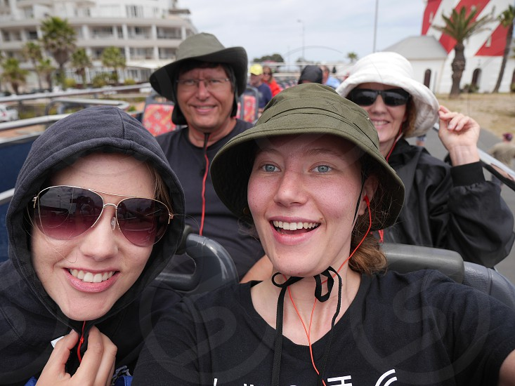 Best friends traveling together tourists selfie photo
